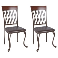 Aluminum Dining Chairs Target Chair Covers For Folding Amazon Corliving Jericho Metal With Dark Brown