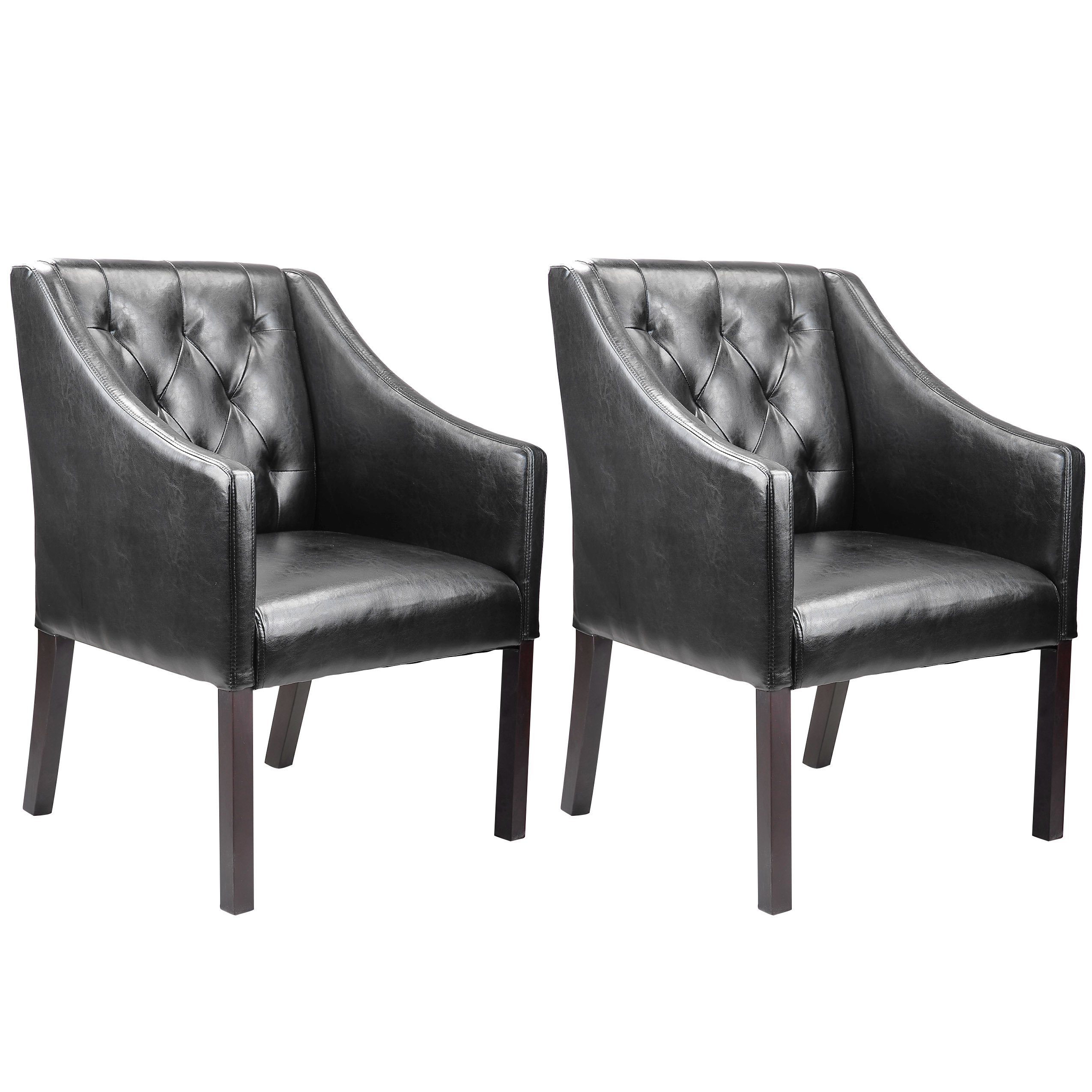 Sears Accent Chairs Corliving Antonio Accent Club Chair In Bonded Leather Set Of 2