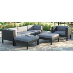 Sofa And Chaise Lounge Set Sectional Sofas Costco Canada Corliving Oakland 6 Pc With Chair