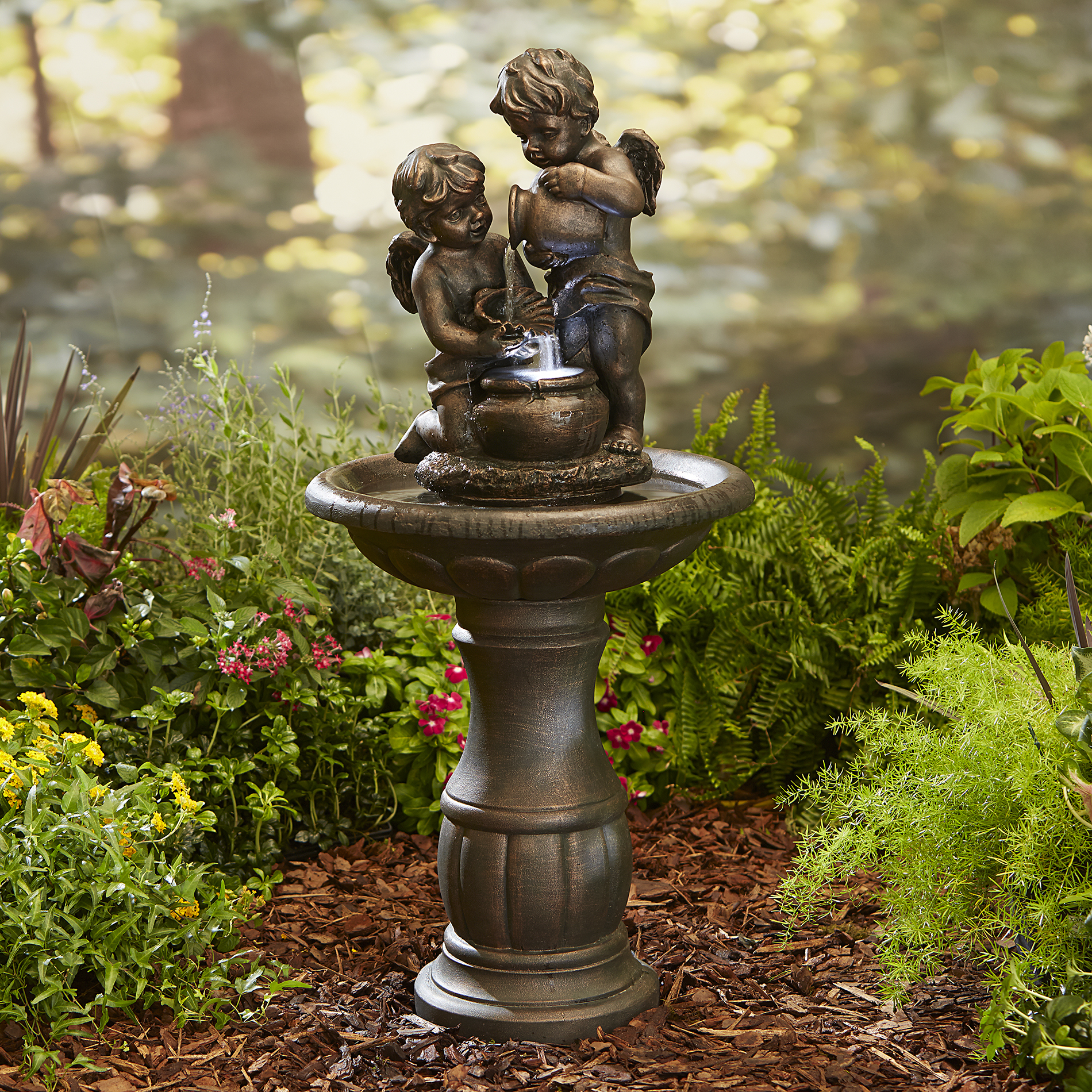 Garden Oasis Cherubs Fountain LIMITED AVAILABILITY