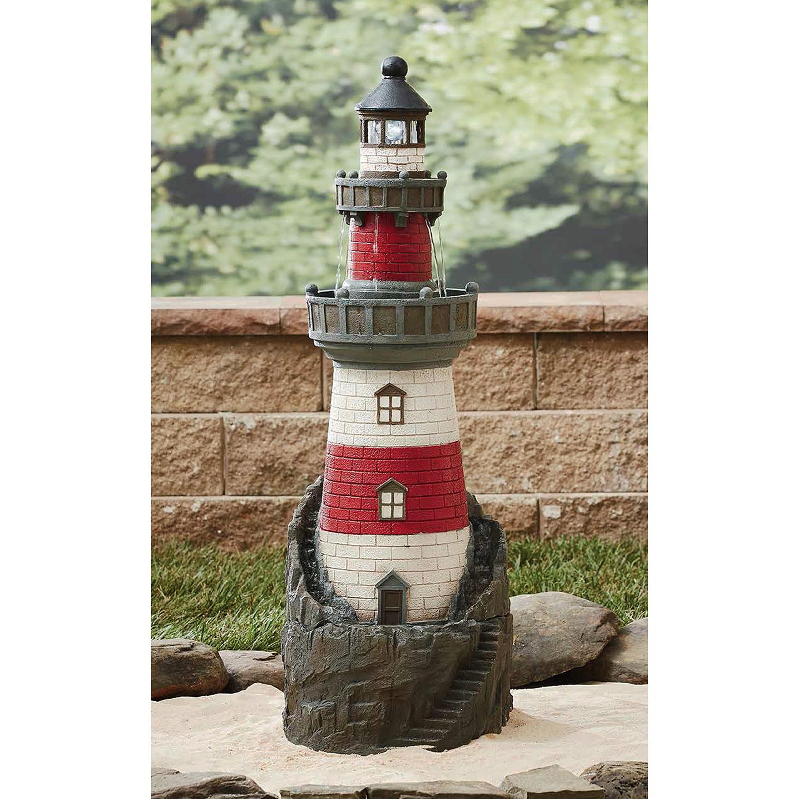 Garden Oasis Lighthouse Fountain