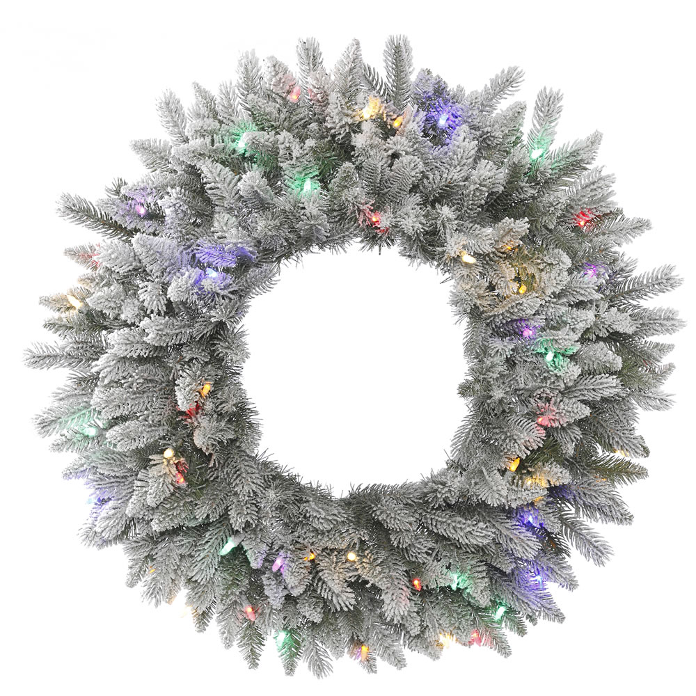 wreaths multi color lights