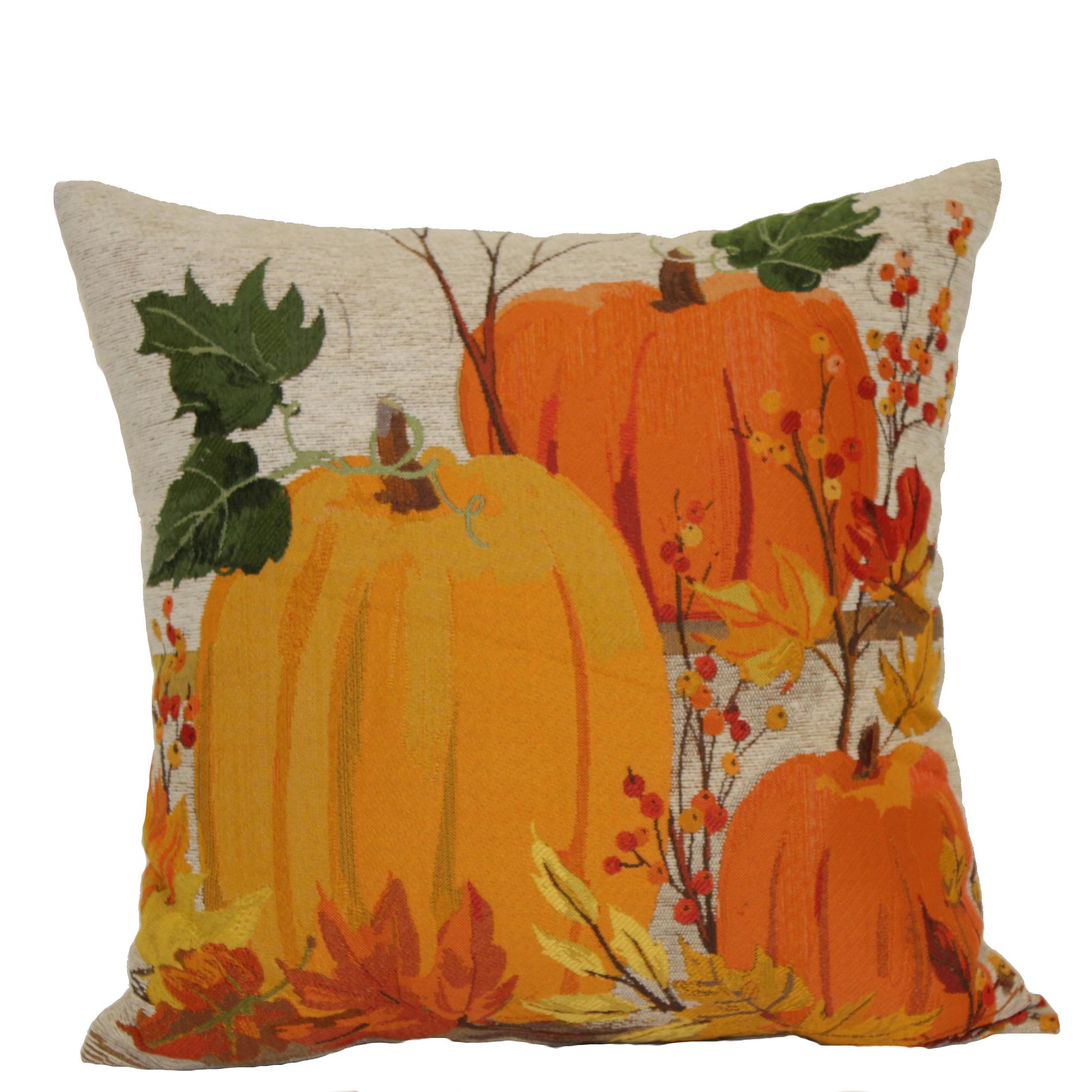 Pumpkin Tapestry Pillow  Home  Home Decor  Pillows