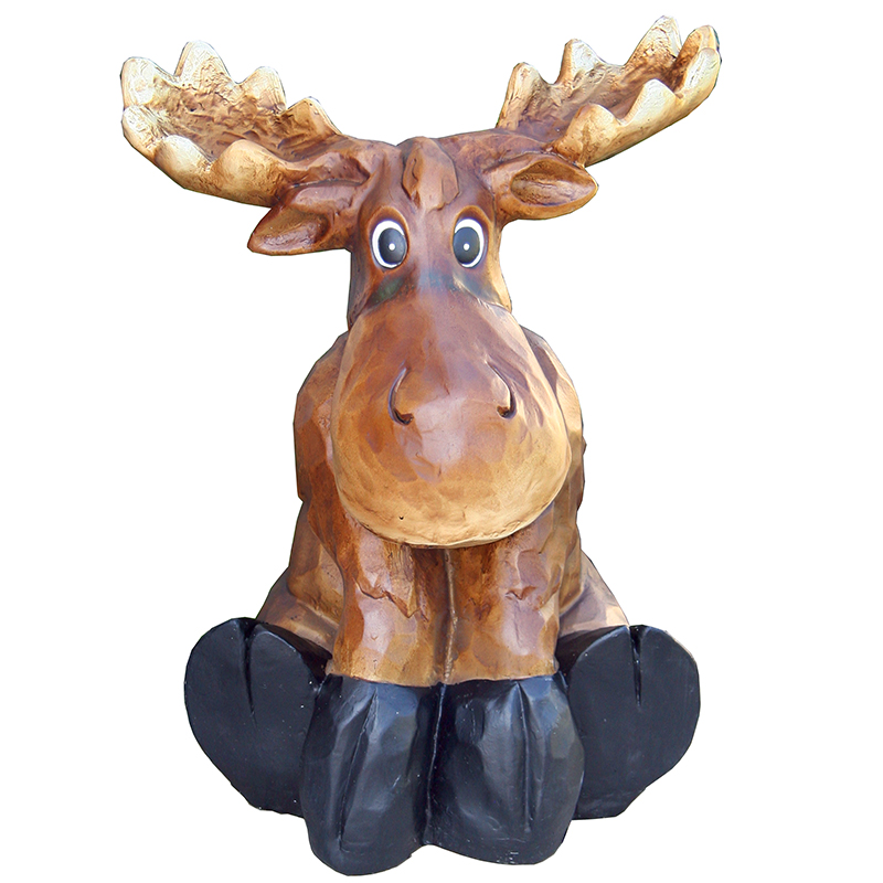 Beckett Sitting Moose Statue