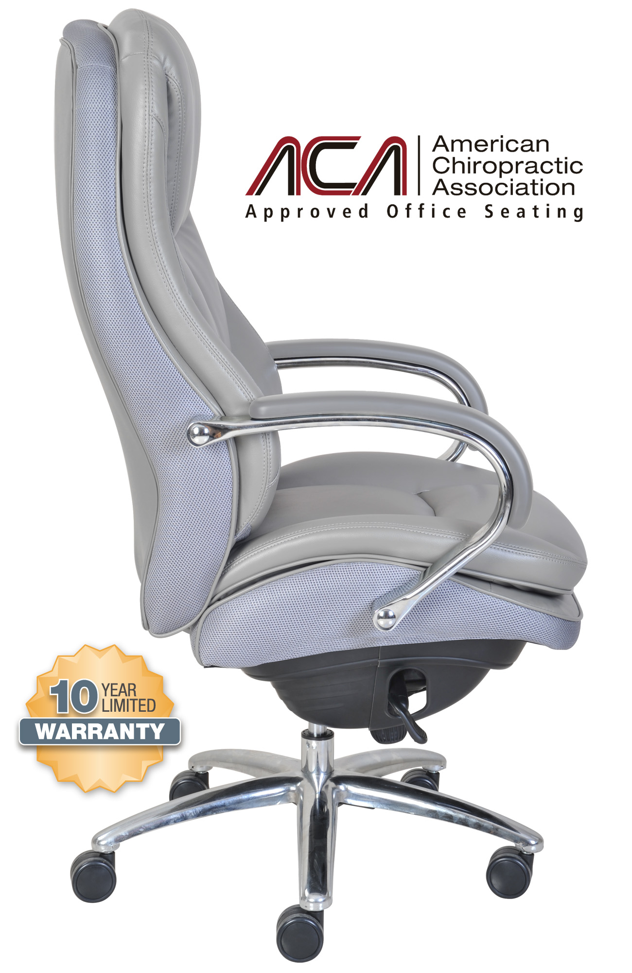 serta office chair 10 year warranty pet covers for recliners smart layers commercial big tall series 500 executive gray