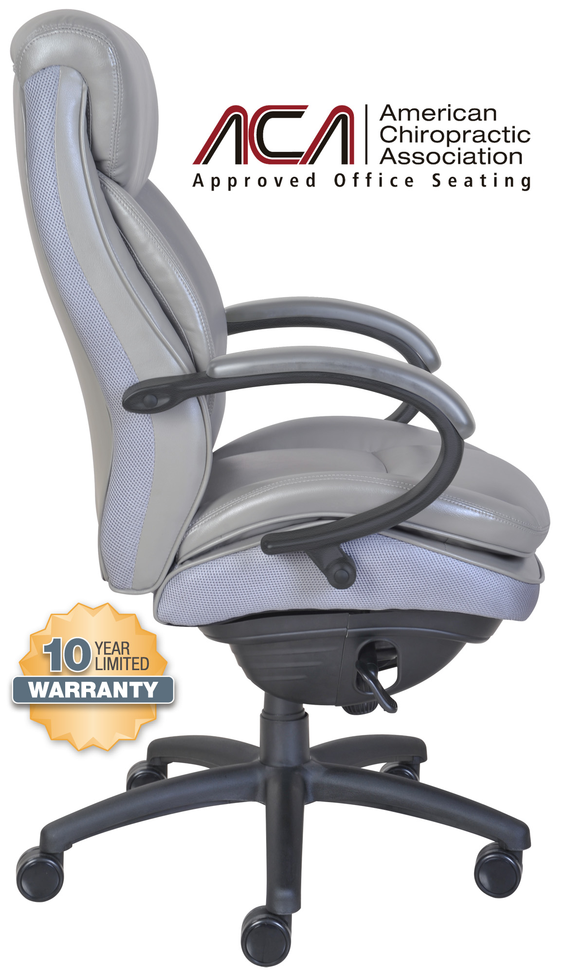 serta office chair 10 year warranty ergonomic ikea canada smart layers commercial series 300 executive gray