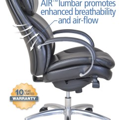 Serta Office Chair 10 Year Warranty Padded Kitchen Chairs Wellness By Design Air Commercial Series 100 Executive Black 3