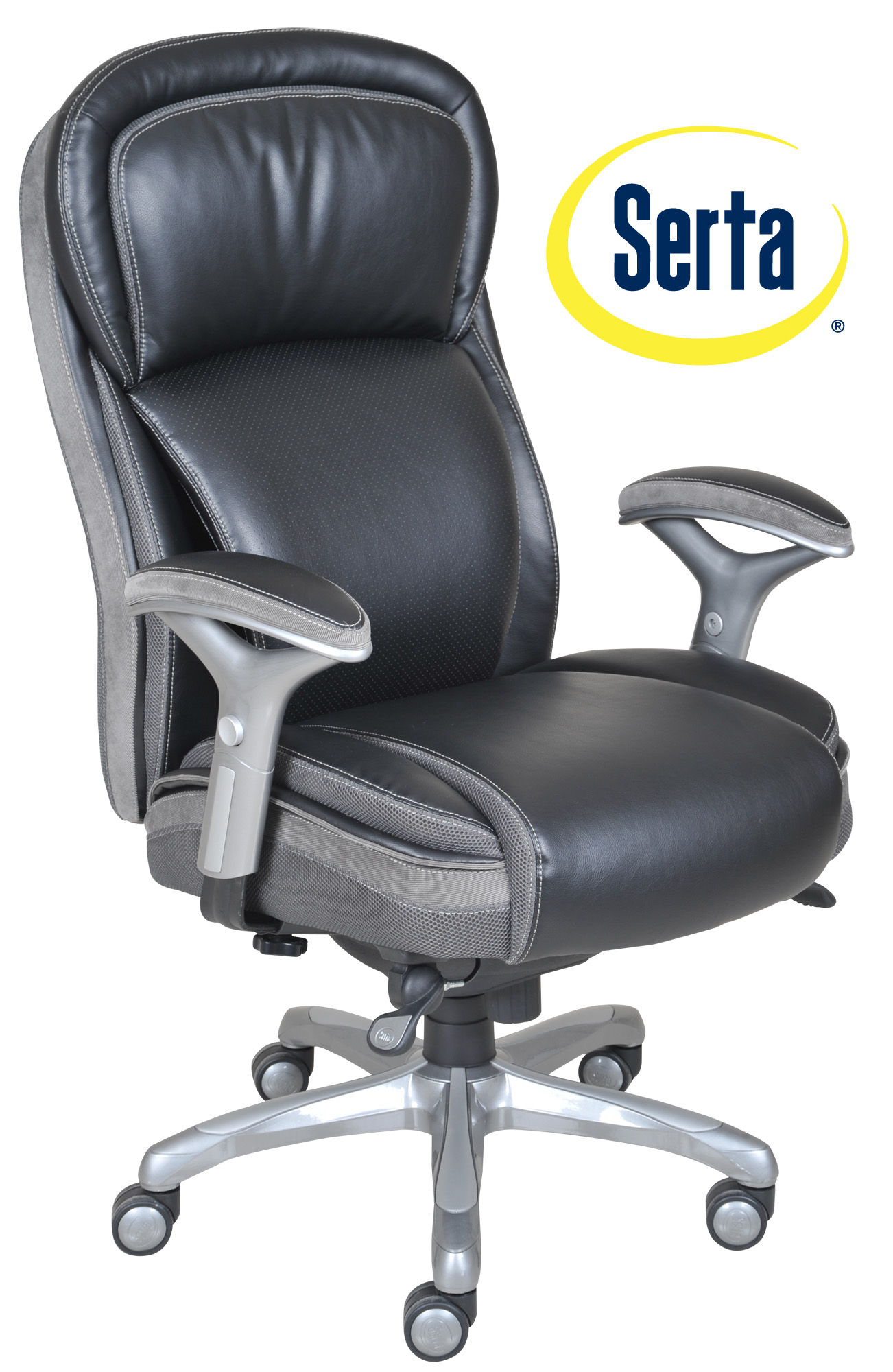 serta bonded leather executive chair boat seats captains chairs at home smart layers premium elite manager