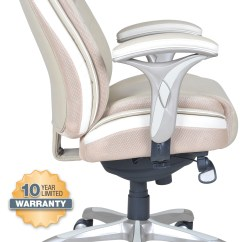 Serta Office Chair 10 Year Warranty Black Metal Dining Smart Layers Premium Elite Manager S In Serene Taupe Bonded Leather 4