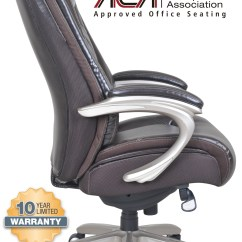 Serta Office Chair 10 Year Warranty Old Birthing Big Tall Smart Layers Premium Ultra Executive In Harmony Coffee Bonded Leather