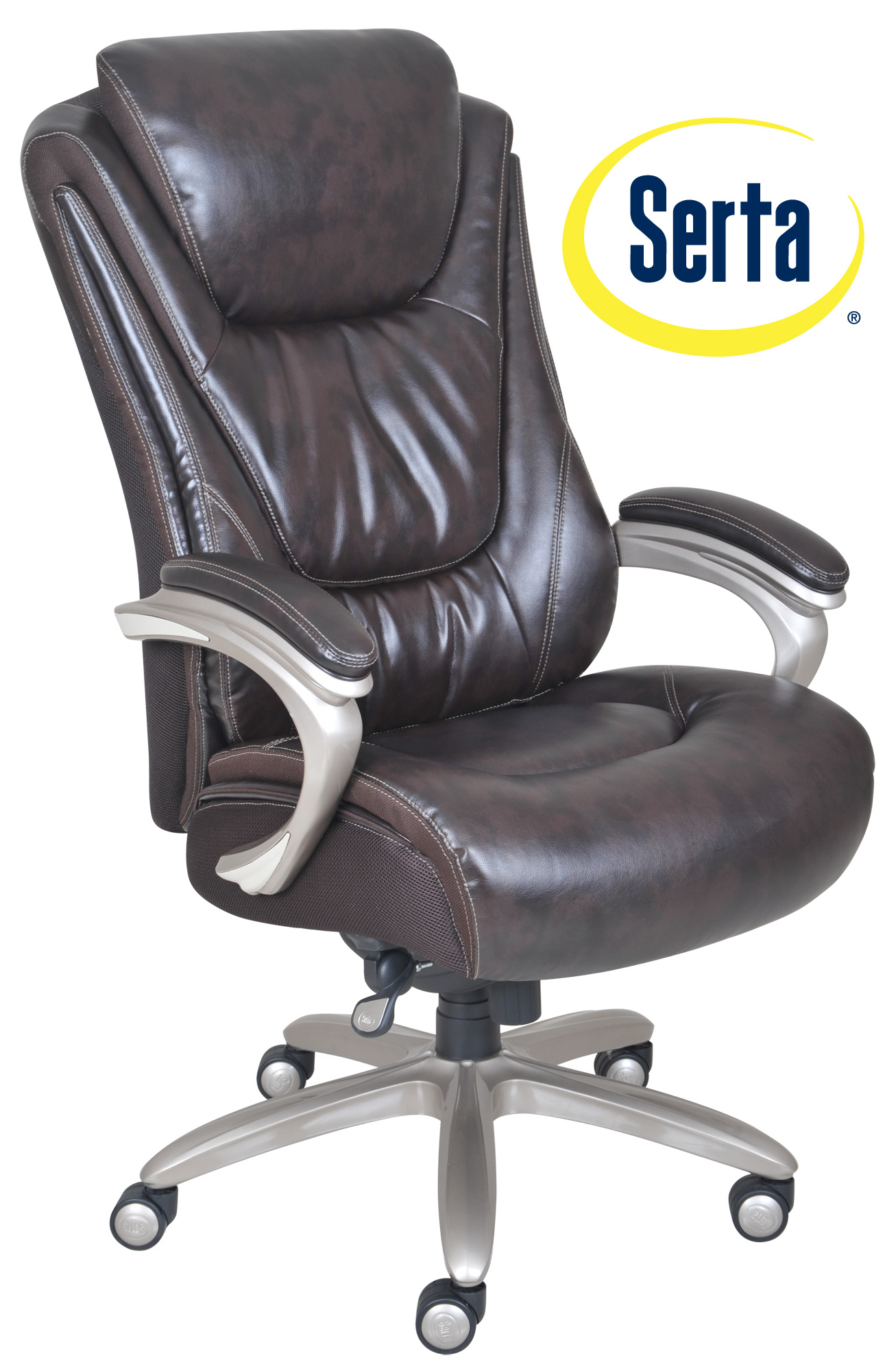 serta bonded leather executive chair stackable chairs for sale big and tall smart layers premium ultra