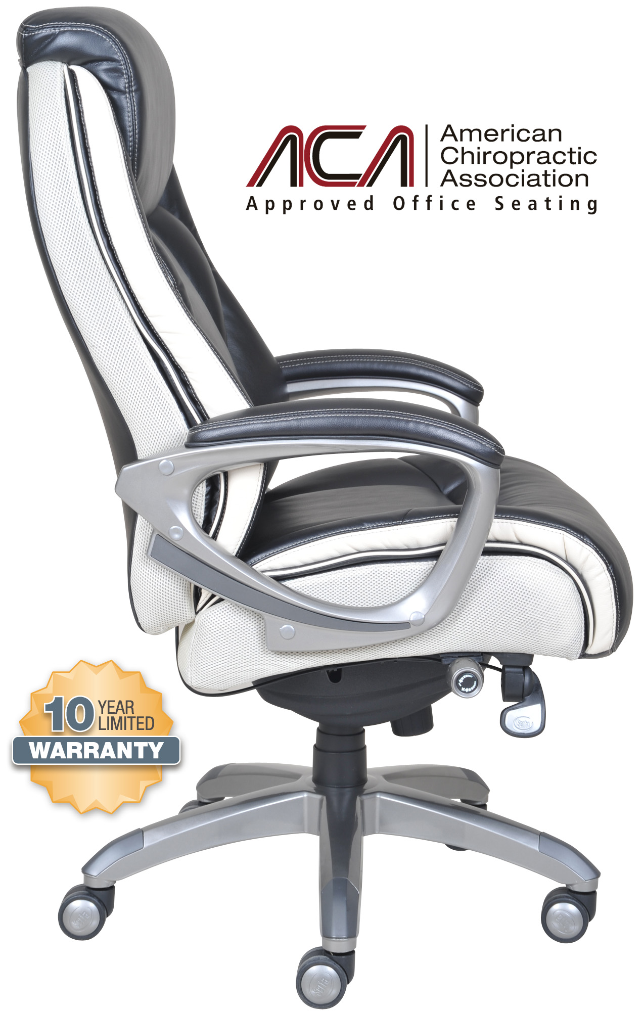 serta office chair 10 year warranty retro table and chairs canada smart layers premium ultra executive in tranquil black bonded leather 4