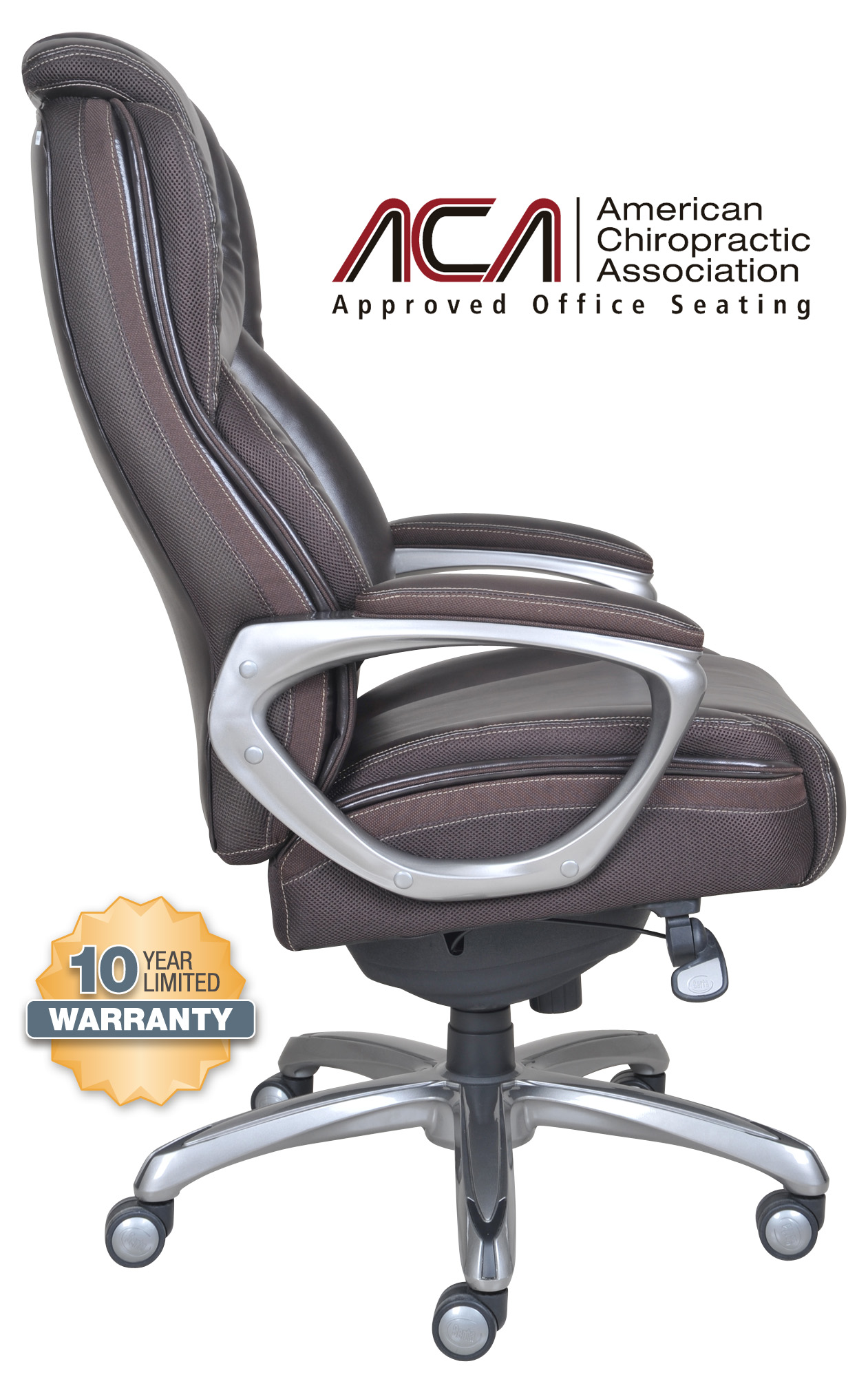 serta office chair 10 year warranty sale big tall smart layers premium elite executive in harmony coffee bonded leather