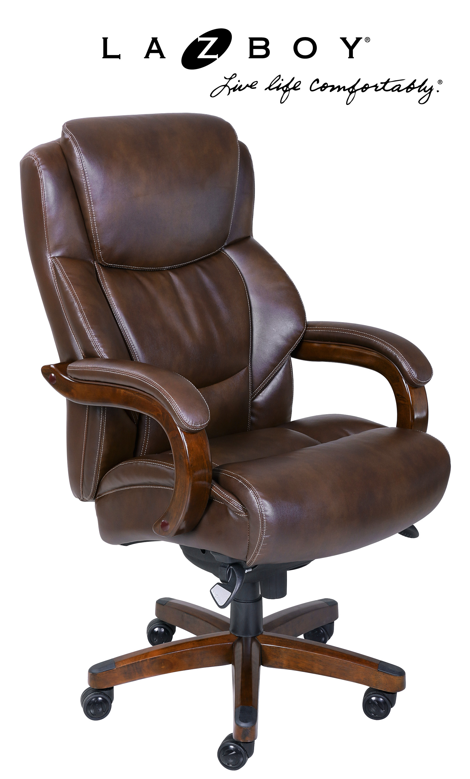 La Z Boy Office Chairs La Z Boy Delano Big And Tall Comfort Core Executive Office