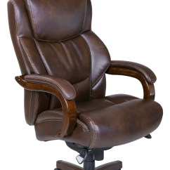 La Z Boy Delano Big And Tall Executive Office Chair Chestnut Recliner Covers Canada La-z-boy & Comfort Core Chair-chestnut Brown