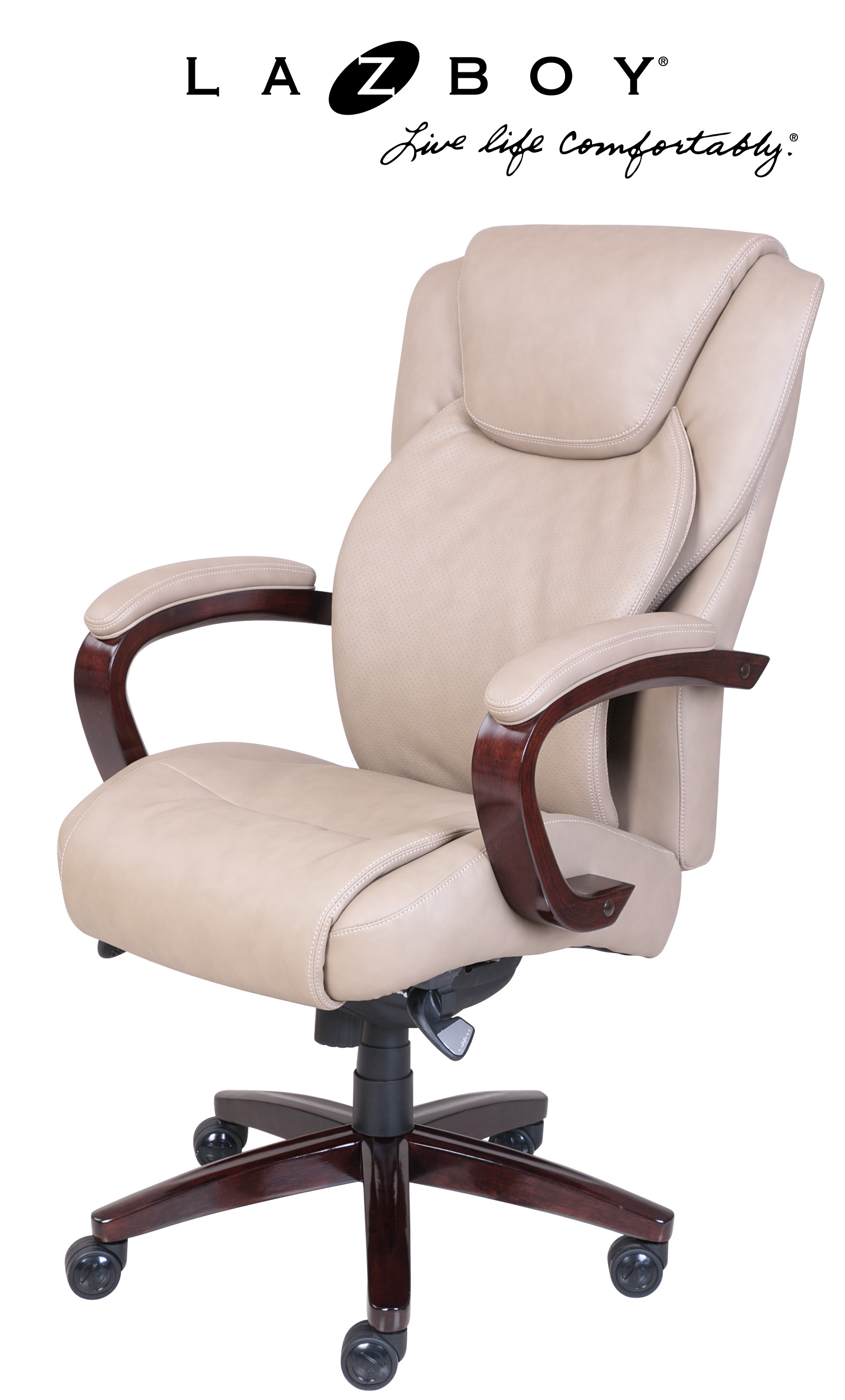 la z boy big tall executive leather office chair black adirondack covers linden comfort core traditions air technology