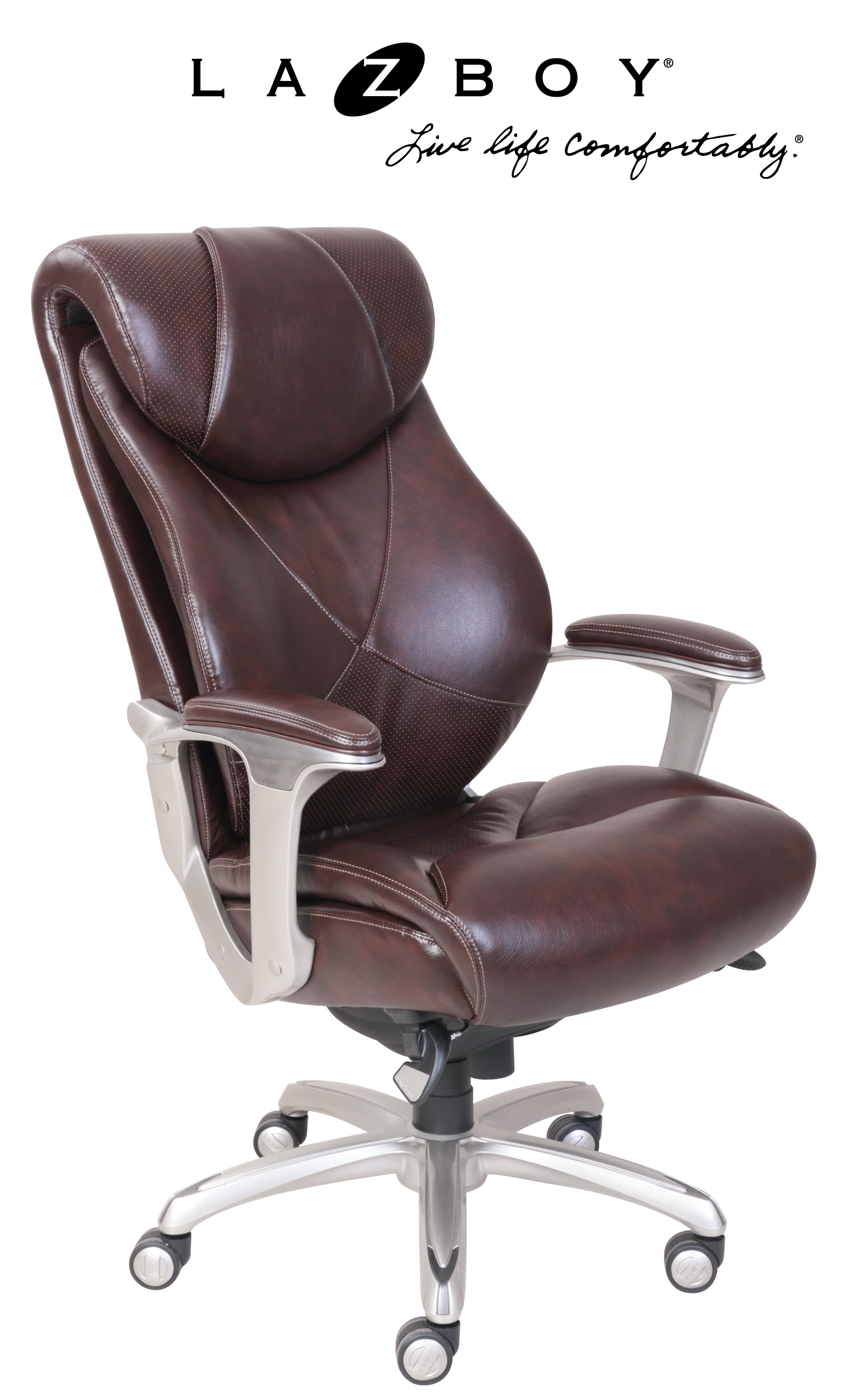 la z boy big tall executive leather office chair black wheelchair in hindi desk chairs sears cantania bonded coffee