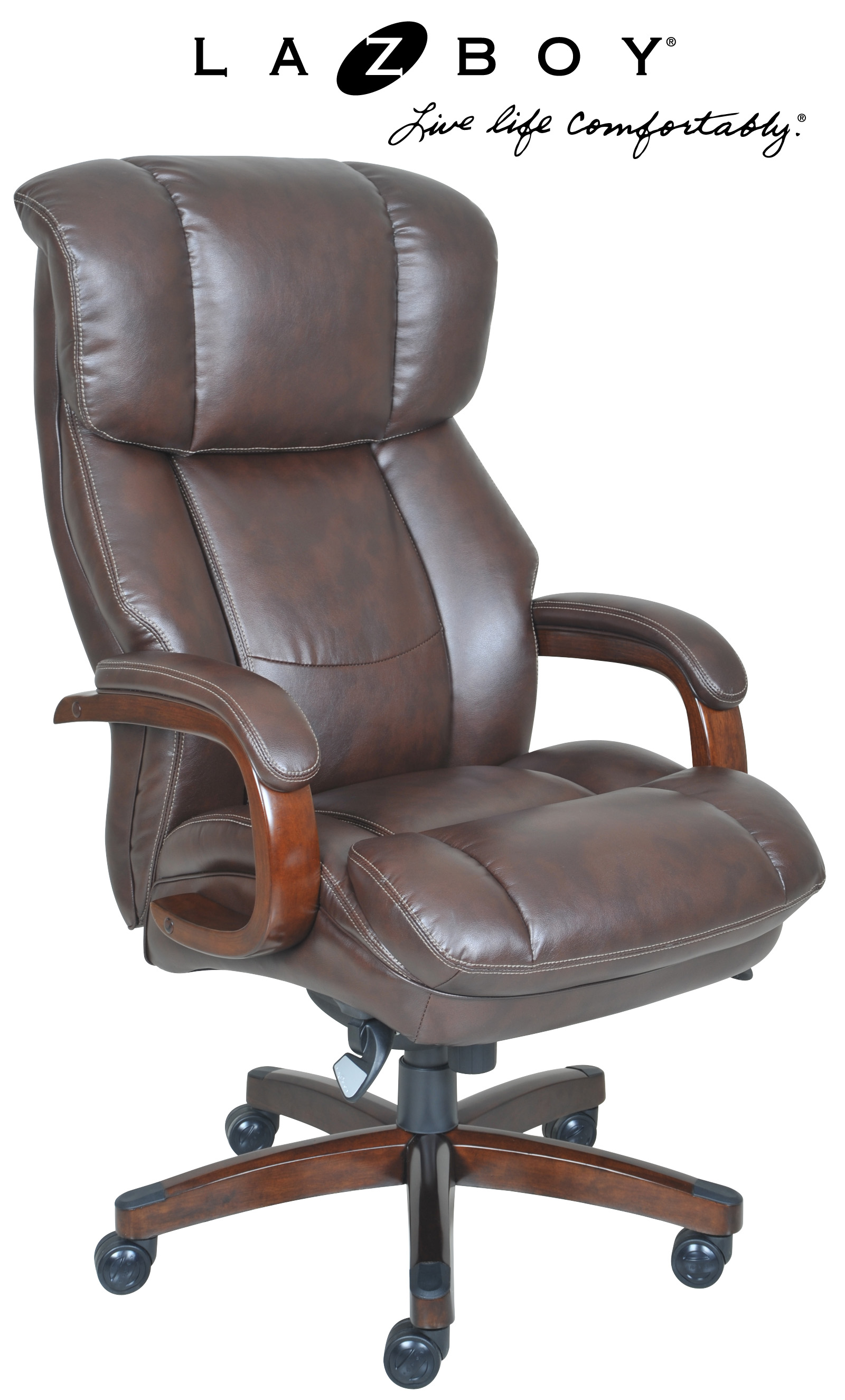 la z boy martin big and tall executive office chair brown plastic covers for moving fairmont comfort core traditions