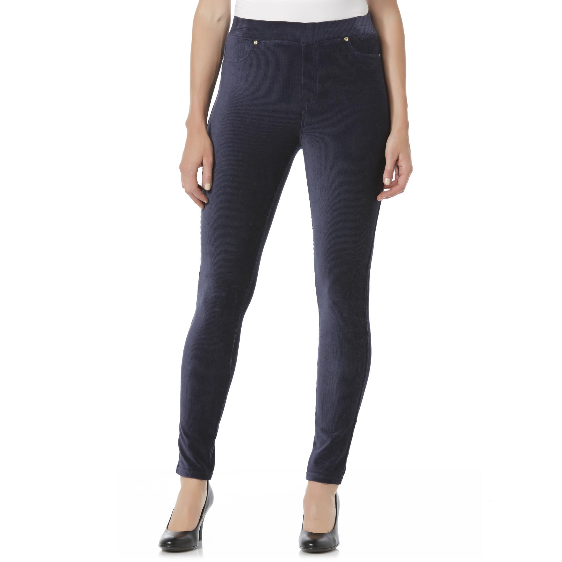 Basic Editions Women' Velour Corduroy Leggings
