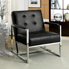 Sears Accent Chairs Ergonomic Chair Philippines Furniture Of America Manney Ostrich Leatherette
