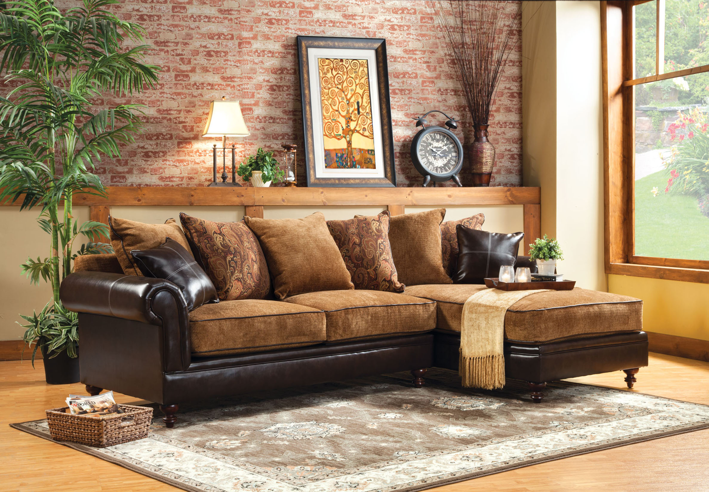 Furniture Of America Two-tone Alicia Formal Sectional