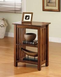 Furniture of America Maina Mission Antique Oak Side Table