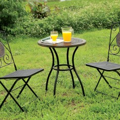 Bistro Table And Chairs Kmart Poppy Pop Up High Chair Cover 3 Piece Patio Set