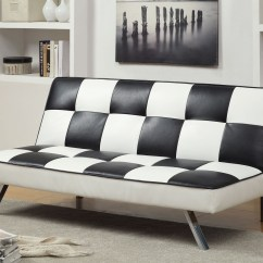 Black And White Checkered Sofa Bed Baxter Furniture Of America Leatherette