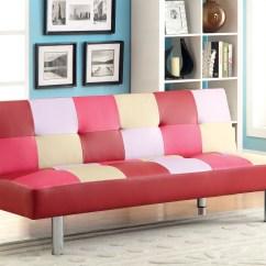 Leatherette Sofa Durability Cream Linen Fabric Furniture Of America Checkered Valentine Maria