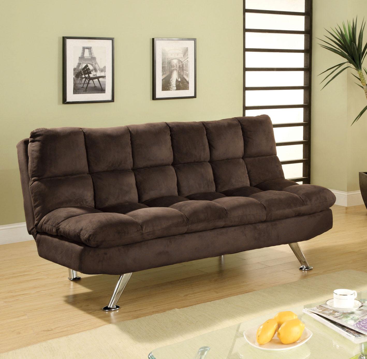 sears clearwater sofa sectional indian wooden uk furniture of america brown jordin microfiber futon