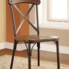 Industrial Dining Chair Wheel Cost Furniture Of America Bronzed Xallie