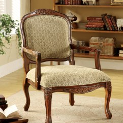 Antique Accent Chair Human Touch Massage Review Furniture Of America Oak Neville