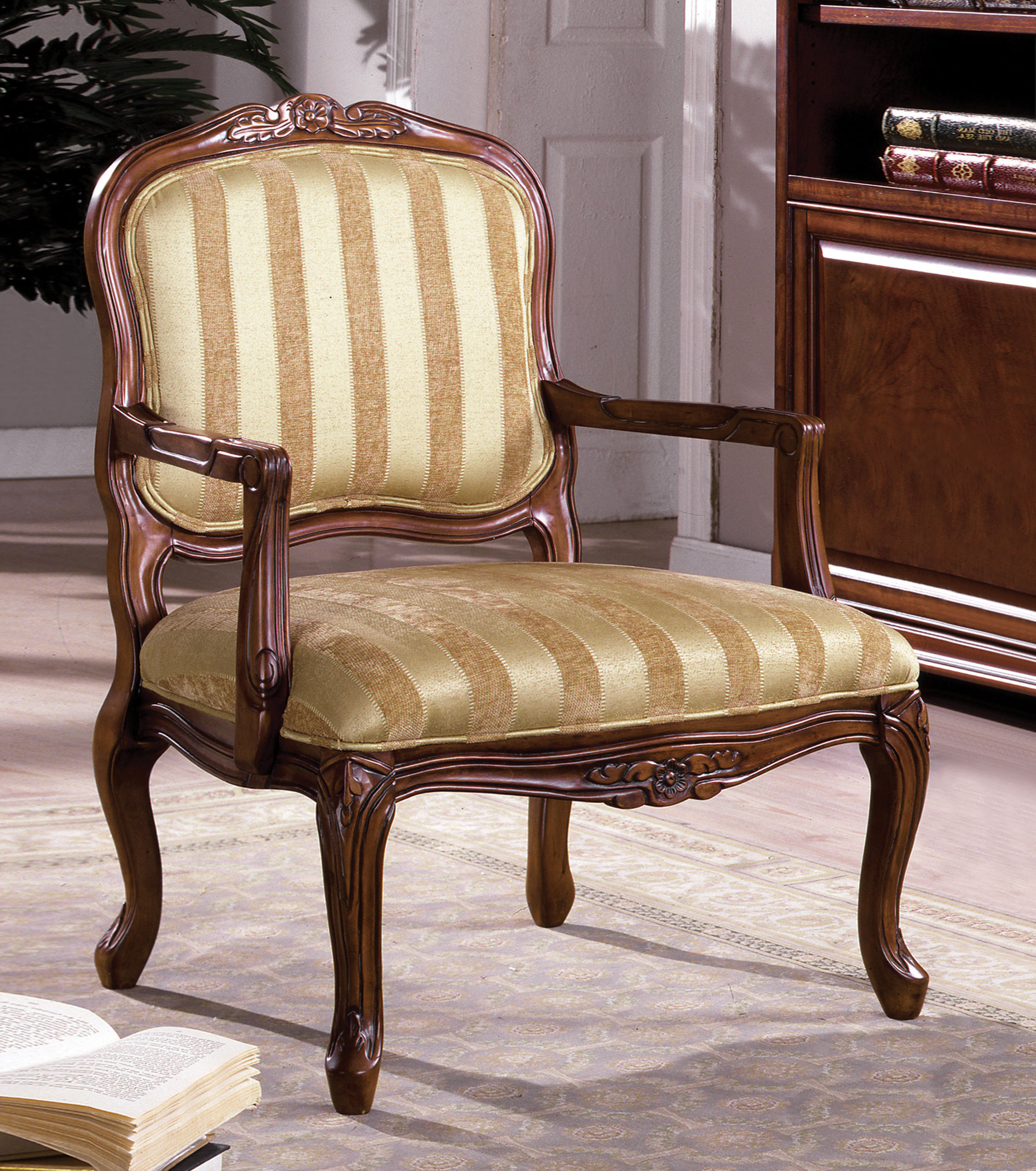 Antique Accent Chairs Furniture Of America Furniture Of America Antique Oak Teville Accent Chair