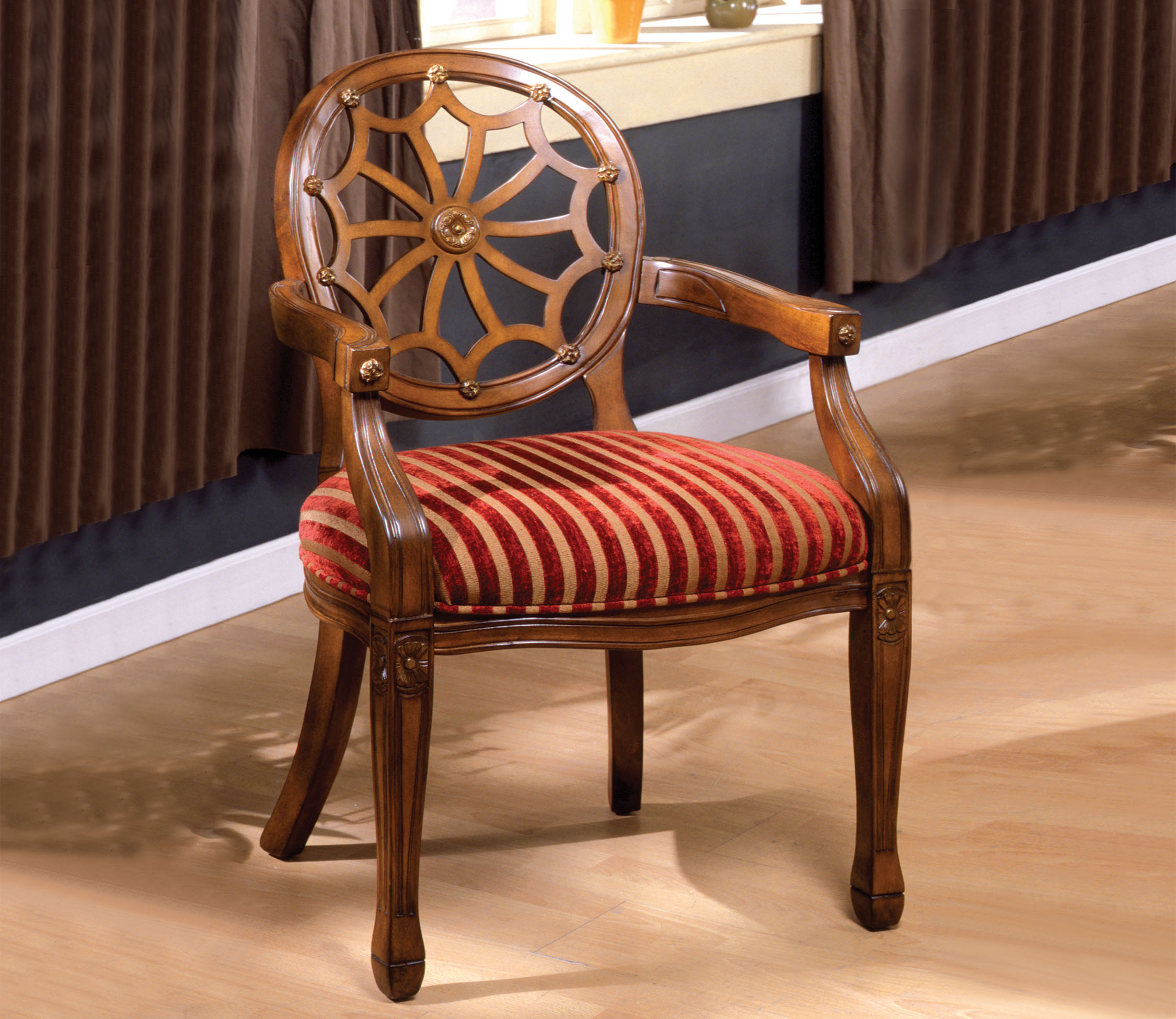 Antique Accent Chairs Furniture Of America Antique Oak Elise Accent Chair