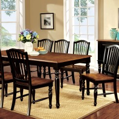Black Farmhouse Chairs Chair With Attached Desk Furniture Of America Rallia Dining Table