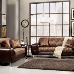 Print Sofa Set Small Light Grey Bed Furniture Of America Two Tone Mekko Typography 2
