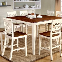 Kitchen Island Chairs With Backs Gel Pro Mats Furniture Of America Vintage White Petronella 9-piece ...