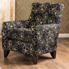 Floral Upholstered Chair Gaming Office Furniture Of America Mavey Black Fabric