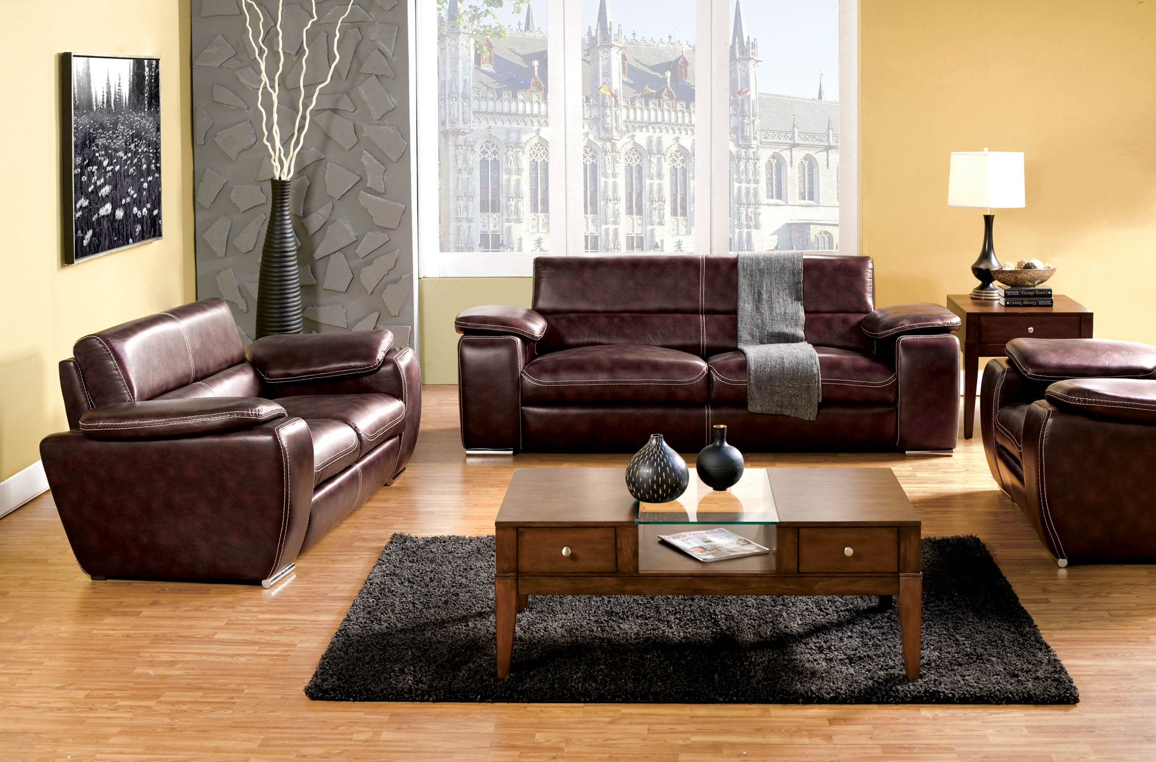 leather possibilities track arm sofa cushion replacement cost furniture of america mitzi wide armed match 2