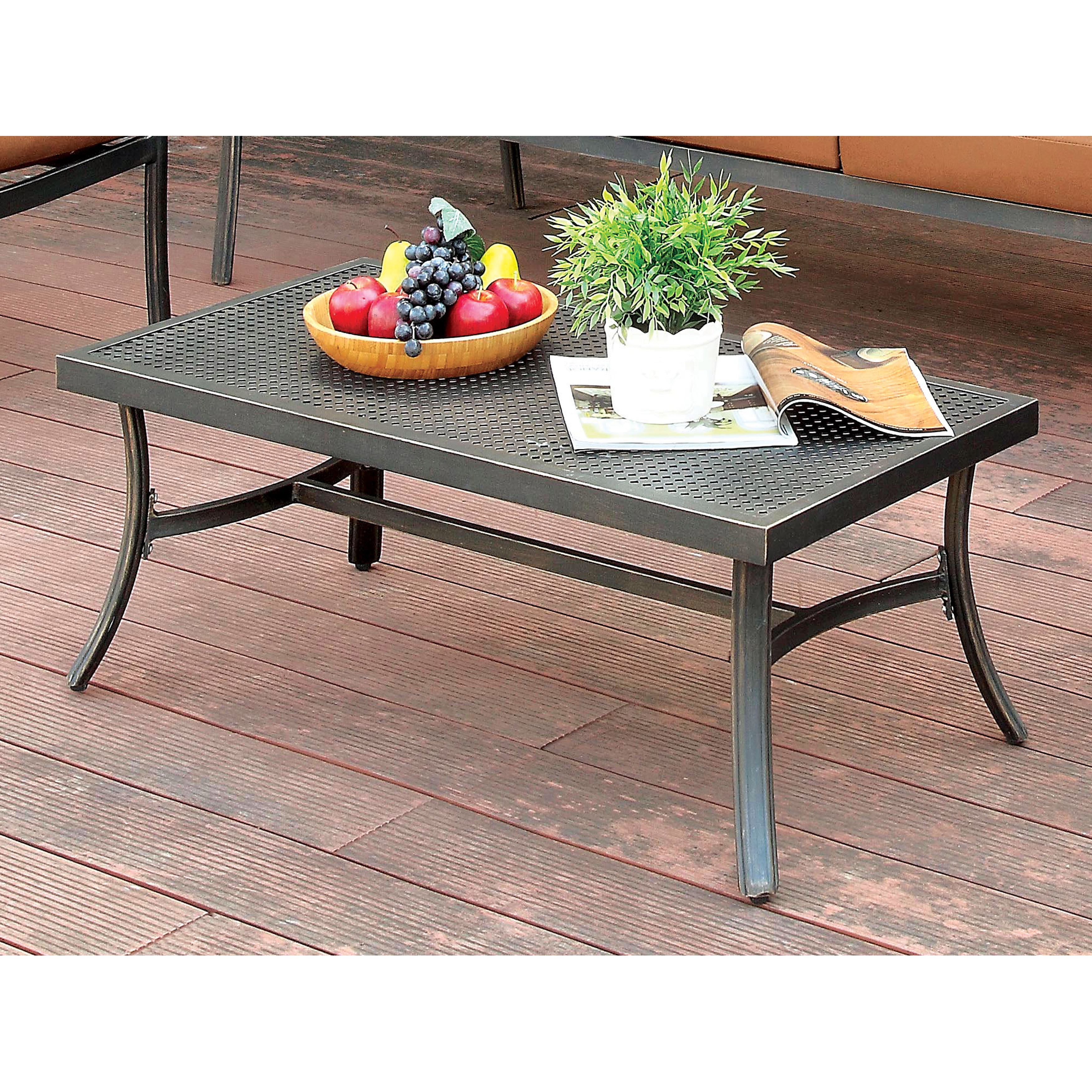 Furniture of America Edward Brown Outdoor Coffee Table