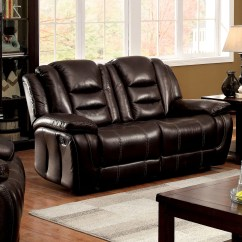 Plush Leather Chair Wooden With Arms For Toddler Furniture Of America Pahlo Dark Brown Faux