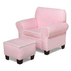 Pink Club Chair Fabric Covers For Dining Room Chairs Komfy Kings Kids And Ottoman Micro With
