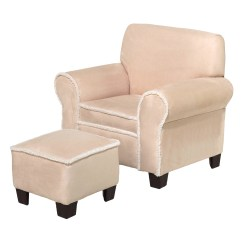 Toddler Chair And Ottoman 8 Square Dining Table Komfy Kings Kids Club Beige Micro With