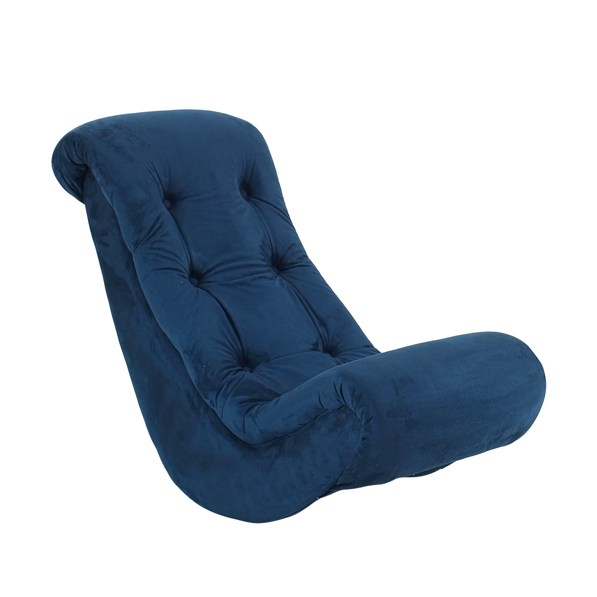 Toddler Rocker Chair Komfy Kings Kids Classic Banana Rocker Navy Blue Micro