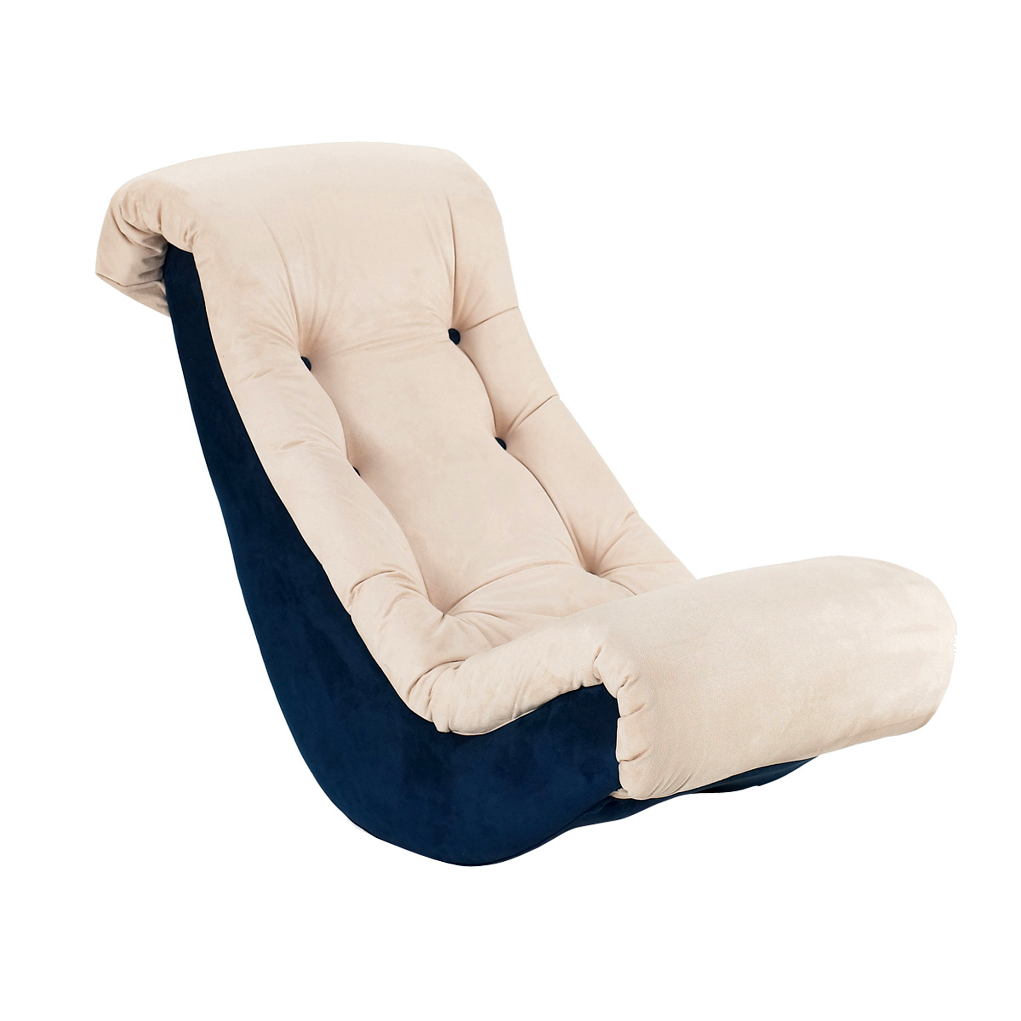 Banana Rocker Chair Komfy Kings Kids Classic Banana Rocker Beige And Navy