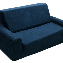 Tween Flip Sofa Dfs Corner And Swivel Chair Komfy Kings Toddler Classic Navy Blue Sherpa