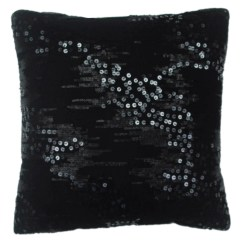 Kmart Jaclyn Smith Sleeper Sofa Ashley Furniture North Shore 16 Quot X Sequined Pillow Black Home