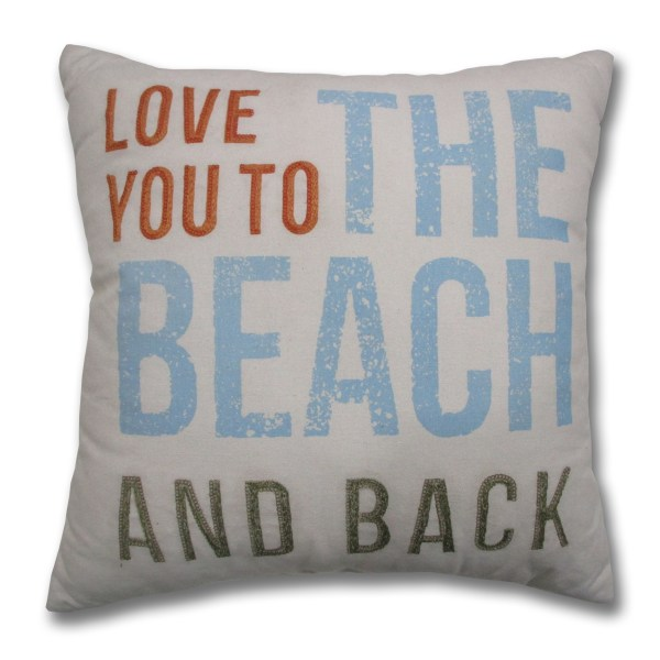 Pillow and Throw You Back to the Beach Love