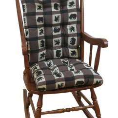 Rocking Chair Christmas Covers Cheap Computer Desk Chairs The Gripper Jumbo Cushions Lodge Animal Plaid