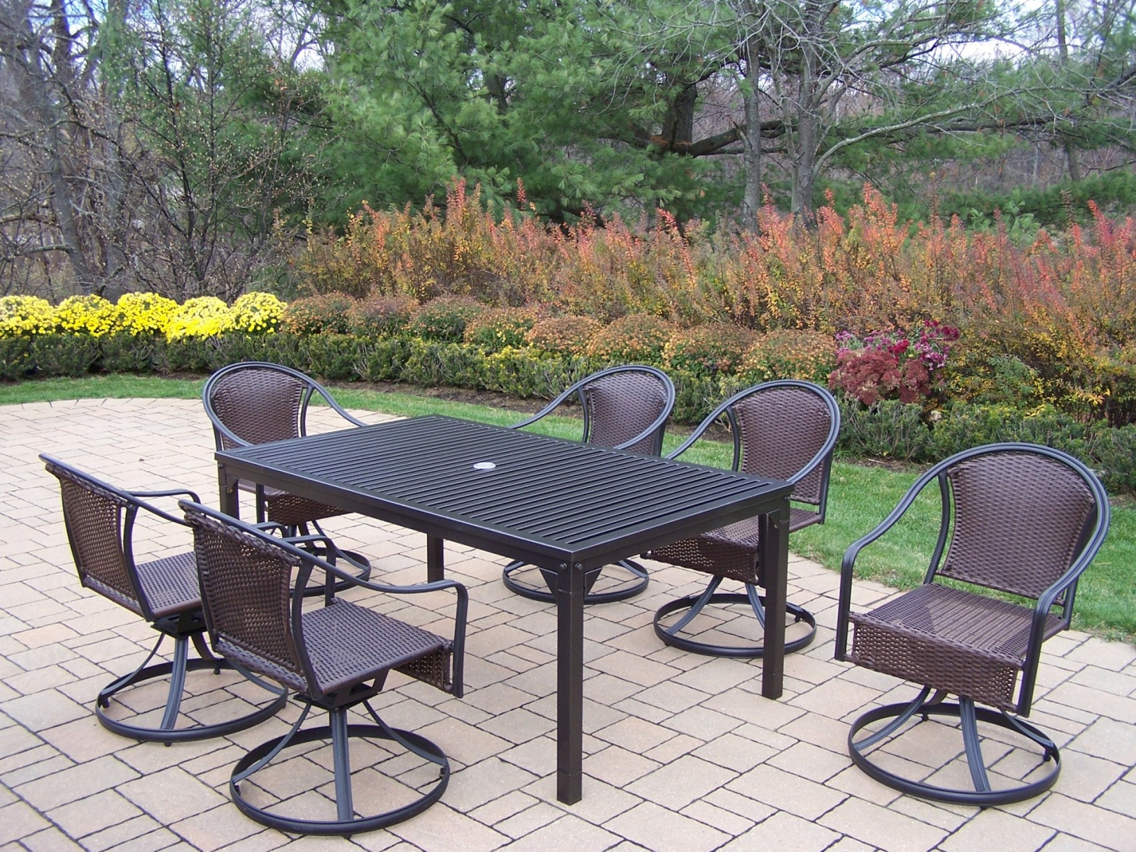 Oakland Living 7 Pc. Patio Dining Set With 67x40
